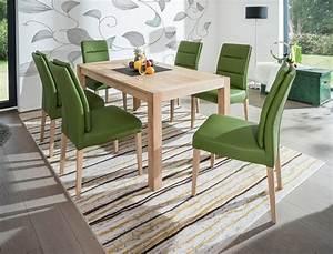 Esstisch 6 Stühle : tischgruppe esstisch karabo eiche bianco 6 st hle flavia 3 sky green wohnbereiche esszimmer ~ Eleganceandgraceweddings.com Haus und Dekorationen