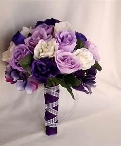 Purple And Silver Bridal Bouquets | Bouquet Idea