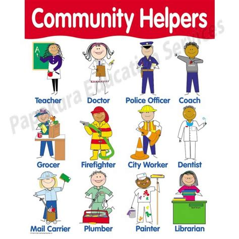 community pictures for preschoolers community helpers chart ctp5694 111