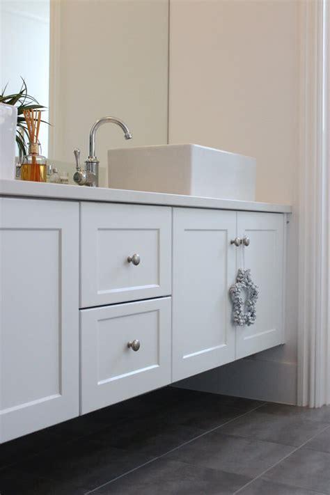metal bathroom vanity with wood drawers a custom built