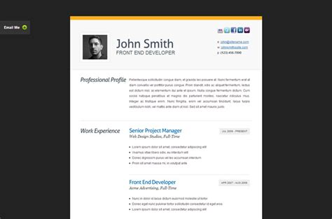 20 top cv website template designs for you