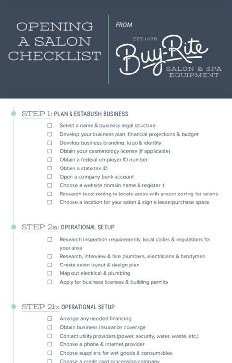 opening  salon checklist   open   hair salon
