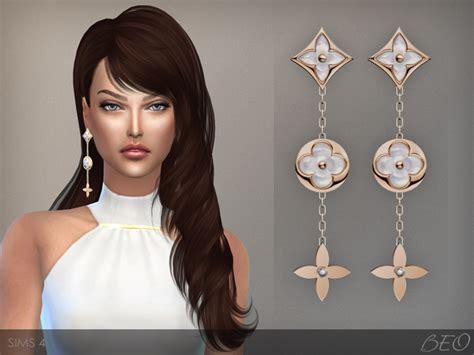 sims  blog louis vuitton monogram earrings  beo