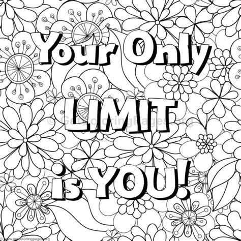 Inspirational Coloring Quotes by Inspirational Word Coloring Pages 65 Getcoloringpages Org