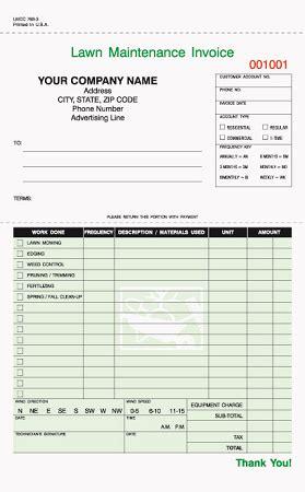 customizable lawn maintenance invoice lmcc  jb forms