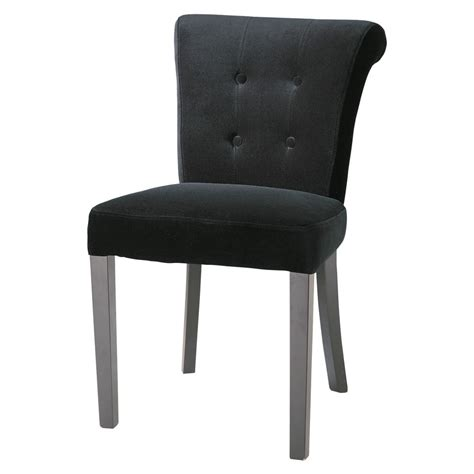 chaise boudoir chaise capitonnée en velours noir boudoir maisons du monde