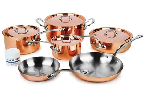 mauviel copper set mheritage ms  piece cutlery