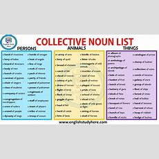Collective Nouns List In English  English Study Here