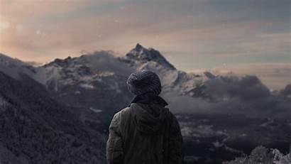 Alone Everest Mount Clouds Mist Wallpapers Desktop