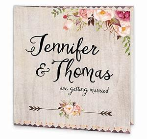 flowering affection folding wedding invitation loving With wedding invitation sample front page