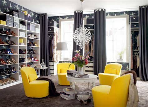 lemon yellow chair in the locker room interior design ideas ofdesign