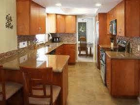 Kitchen Inspiring Small Shaped Kitchen Floor Galley Kitchen Design In Modern Living