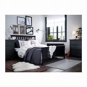 Lit 180x200 Ikea : hemnes cadre de lit noir brun leirsund chm pinterest hemnes lit 180x200 et ikea ~ Teatrodelosmanantiales.com Idées de Décoration