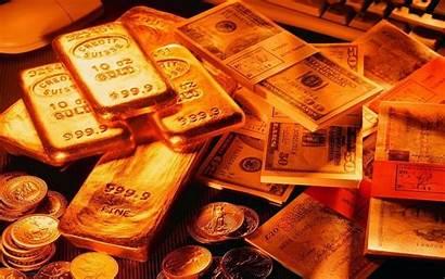 Money Dollar Coins Golden