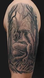 Werewolf tattoo by Daniel Chashoudian: TattooNOW