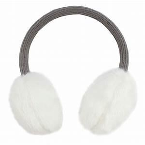 Girls French Designer White Fluffy Ear Muffs - Château de ...