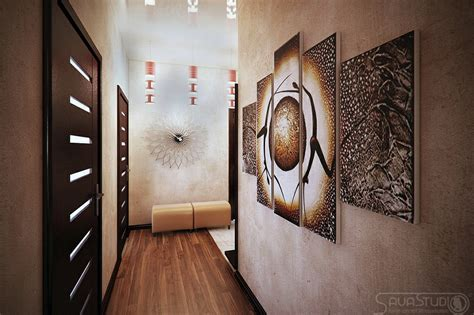 brown cream hallway decor interior design ideas