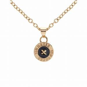 Ted Baker Tella Gold Black Button Pendant At Jewellery4 Com