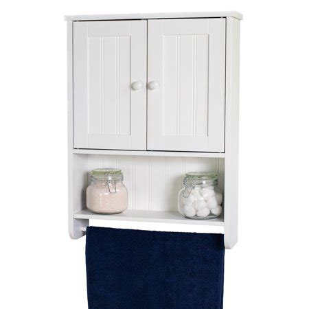 Bathroom Wall Cabinet With Towel Bar by Wall Mount White Bathroom Medicine Cabinet Storage