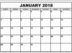 Printable January 2018 Calendar Archives Printable