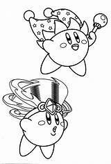 Kirby Coloring Pages Magician sketch template