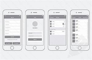 20 templates for creating high fidelity wireframes idevie With iphone app wireframe template