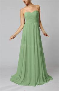 sage green simple sheath sweetheart zip up sweep train With sage green dresses for wedding