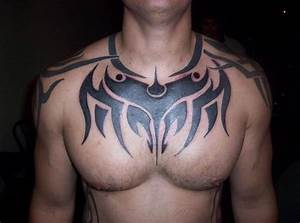 Chest Tribal Tattoo Picture