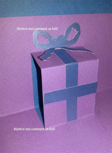 comment faire une carte avec cadeau en 3d pour nol ou pour invitations ideas