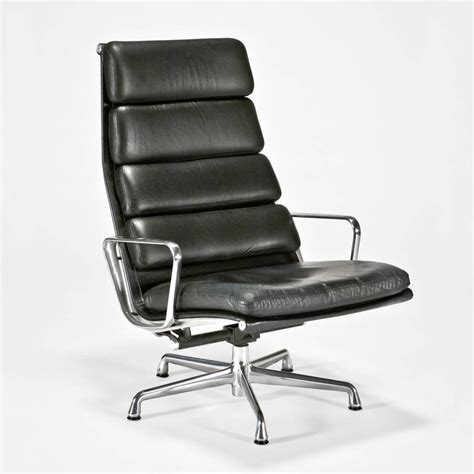 Eames Soft Pad Executive Chair by Leather Soft Pad Executive Chair And Ottoman By Charles