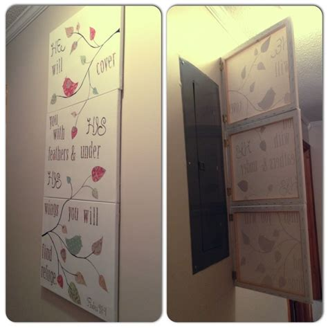 Cover For Fuse Box In House by Hinge Canvases Your Electrical Panel To Hide It But