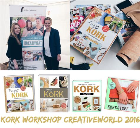 Kork Workshop Creativeworld 2016 kreativfieber