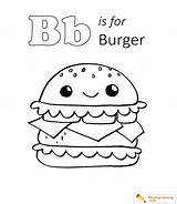 Coloring Pages Burger Popular sketch template