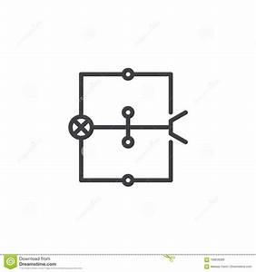 Wiring Diagram Line Icon Stock Vector  Illustration Of