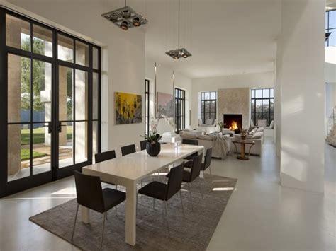 neutral open plan home interior design ideas