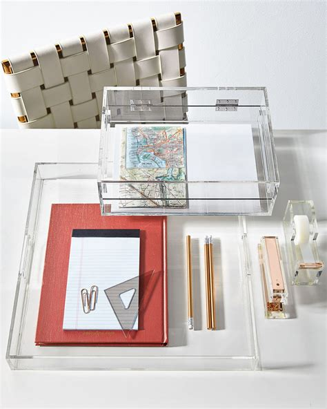 acrylic desk accessories 5 ways to use acrylic decor throughout your house