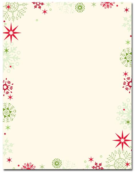 christmas head template christmas stationery red green flakes letterhead