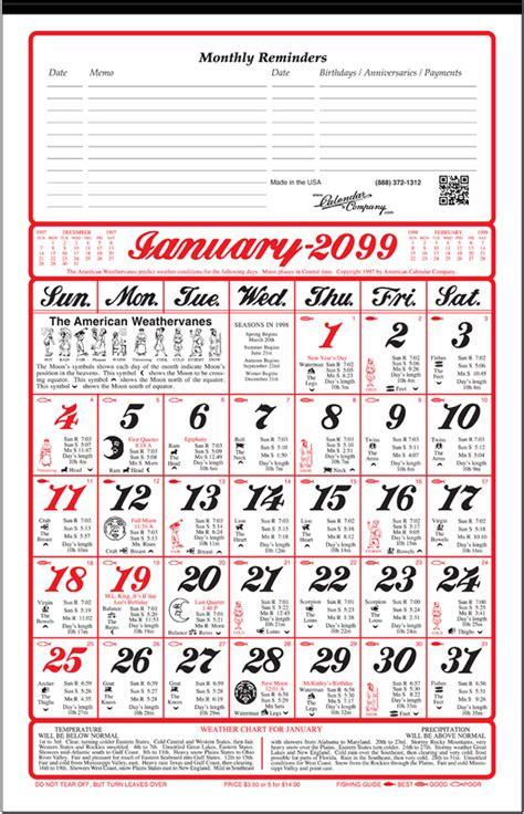 american almanac calendar calendar company