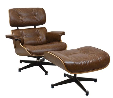 charles eames style reproduction lounge chair ottoman by