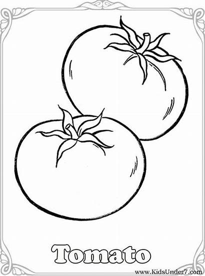 Coloring Vegetable Pages Vegetables Tomato Fruit