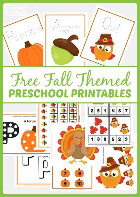 free fall themed preschool printables at b inspired 312 | 58d46ede71f7913bc6a2d2e914cec0d4