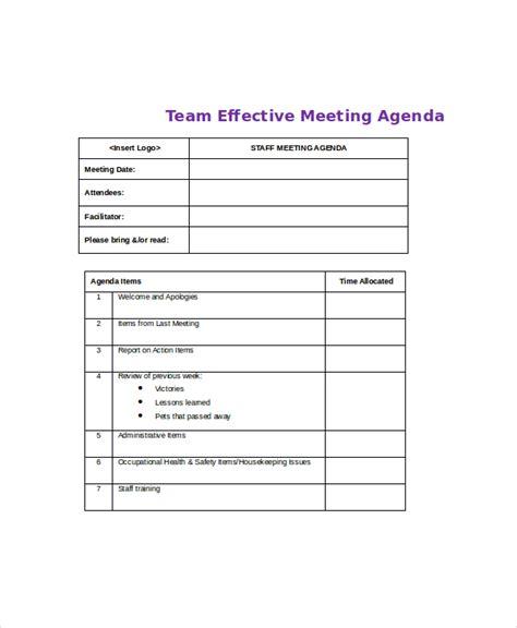 team meeting agenda template effective meeting agenda template 10 free word pdf documents free premium templates