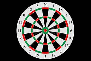 Vector Dartboard With Numbered Segments Stock Vector