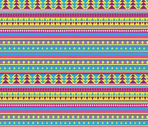 Neon 80s Tribal Pattern fabric totes adorbs Spoonflower