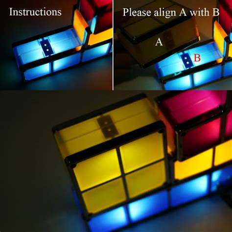 18 tetris stackable led desk light reusable led
