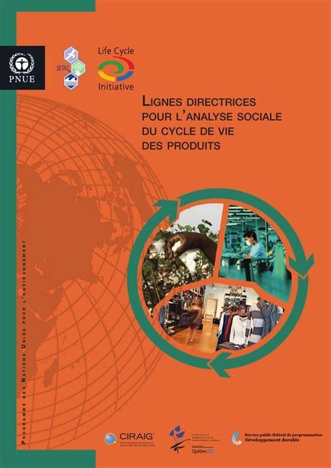 si鑒e social sfr lignes directrices pour l 39 analyse sociale du cycle de vie des produits