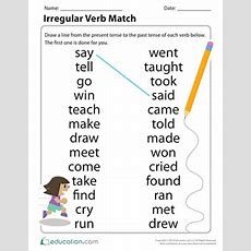 Grammar Time Irregular Verbs  Worksheet Educationcom