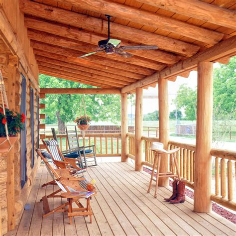 decking choices    log home real log style