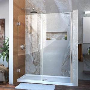 Shop DreamLine Unidoor 59 In To 60 In W Chrome Hinged