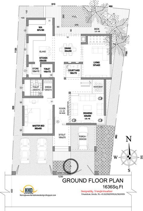 modern house elevation sq ft kerala home design floor plans